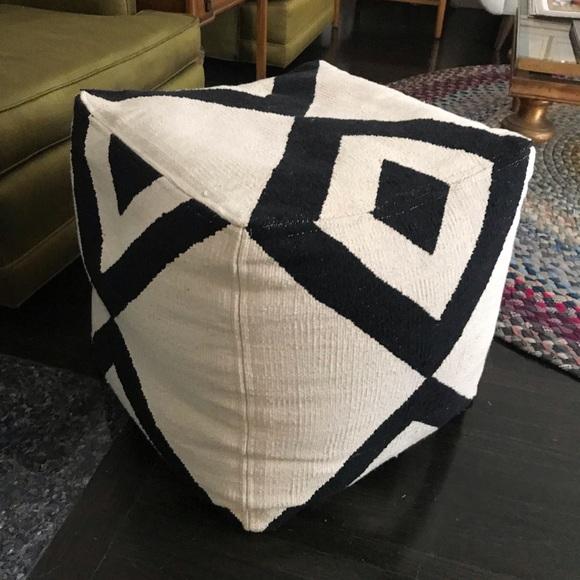 Awe Inspiring Cb2 Pouf Ottoman Dailytribune Chair Design For Home Dailytribuneorg